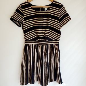 Forever 21 | Gold and Black Striped Shift Dress
